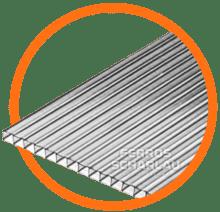 placa chapa de policarbonato para pergolado transparente