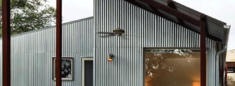 Telha utilizada em parede e parte externa de residencia